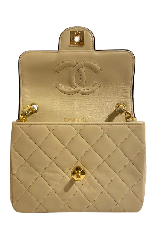 Chanel Classic  Mini Quilted Single Flap Bag - aptiques by Authentic PreOwned