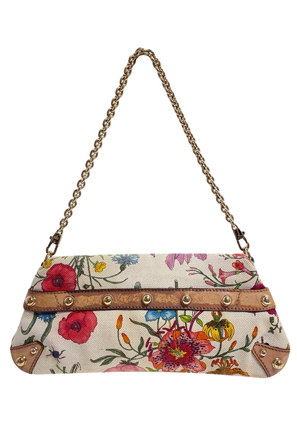 Gucci by Tom Ford Floral Horsebit Clutch - aptiques by Authentic PreOwned