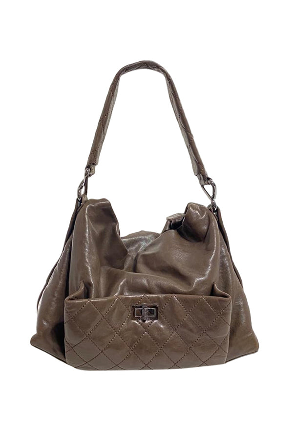 Chanel 8 Knots Olive Hobo - aptiques by Authentic PreOwned
