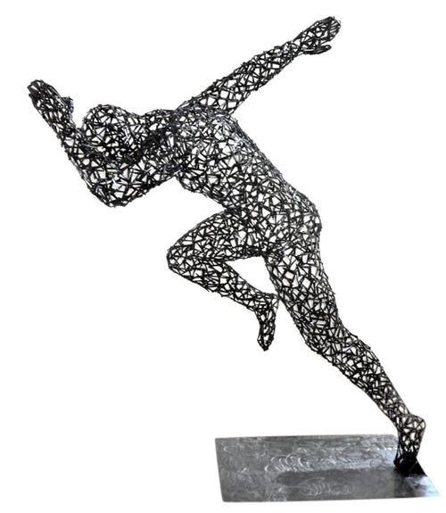 "Life Size Sculpture ""Man In Motion"" - aptiques by Authentic PreOwned"