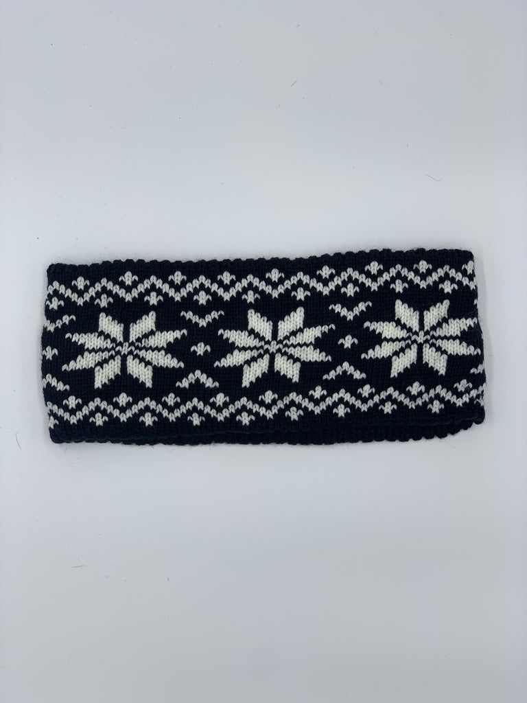 Snowflake Headband in Back & White