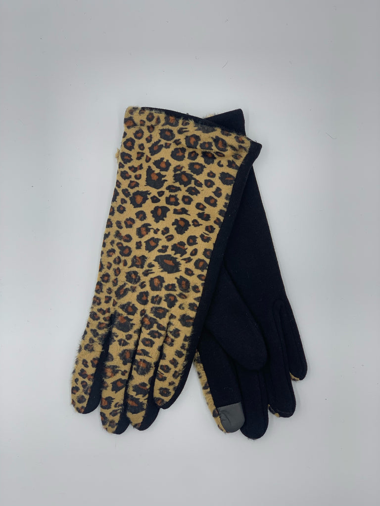 Cheetah Print Touch Screen Gloves
