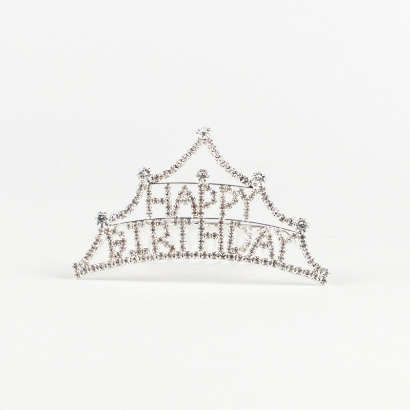 Happy Birthday Mini Rhinestone Tiara
