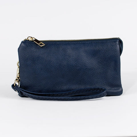 Small Wristlet Wallet - Navy