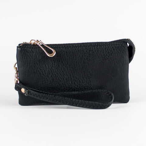 Small Wristlet Wallet - Black