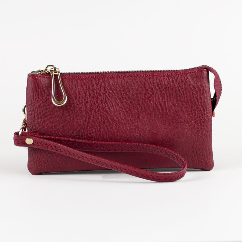 Small Wristlet Wallet - Burgundy