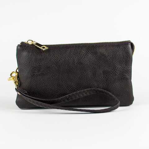 Small Wristlet Wallet - Brown