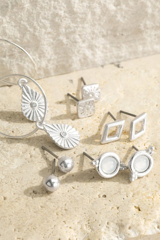 Mix It Up Earring Set - Silver