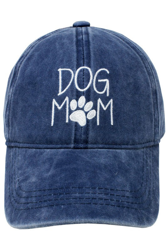 Navy Dog Mom Baseball Cap