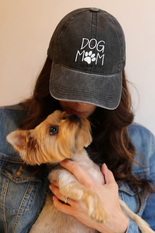 Black Dog Mom Baseball Cap