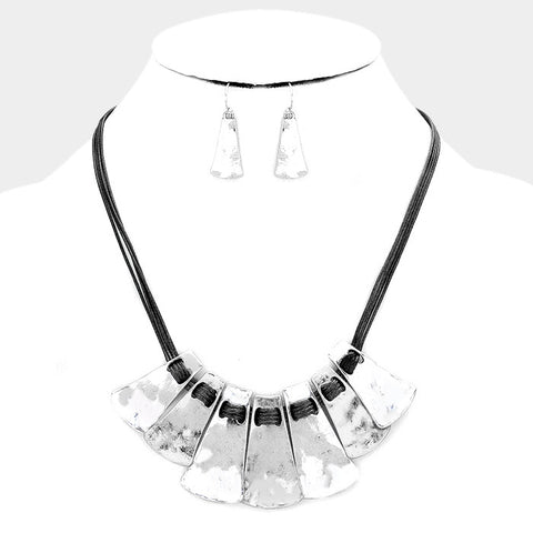 Metal Statement Necklace & Earring Set