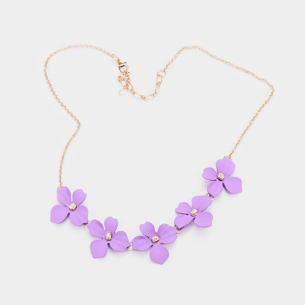 Bloom Necklace Lavender