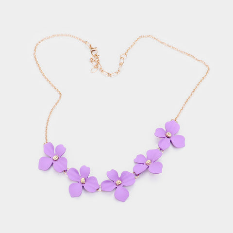 Lavender Flower Bloom Necklace