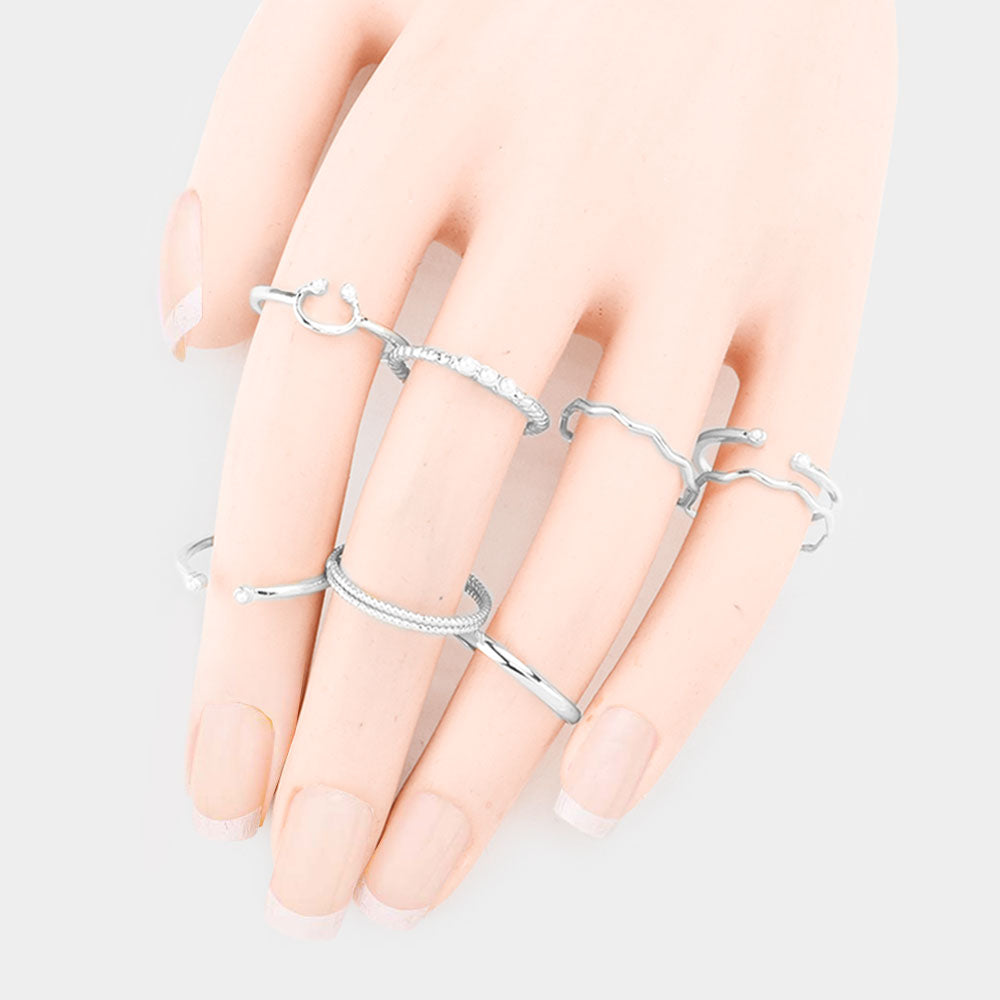 Titanic 9 pc Ring Set Silver