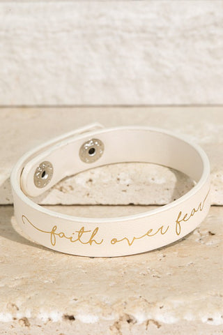 Faith over Fear Bracelet