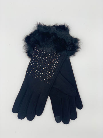 Bedazzled Touch Screen Gloves