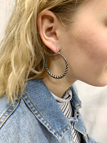 Patina Twisted Hoop Earrings