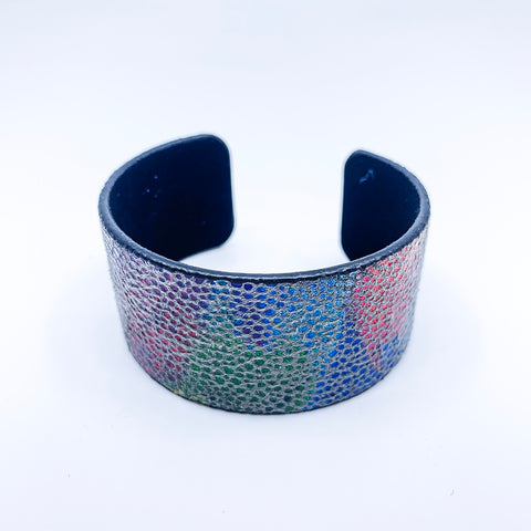 Painted Leather Cuff Bracelet