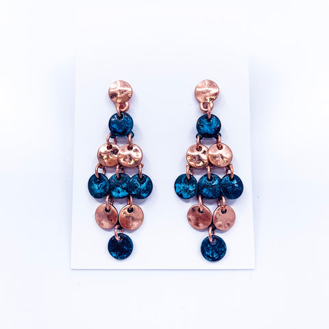Patina & Copper Statement Earrings