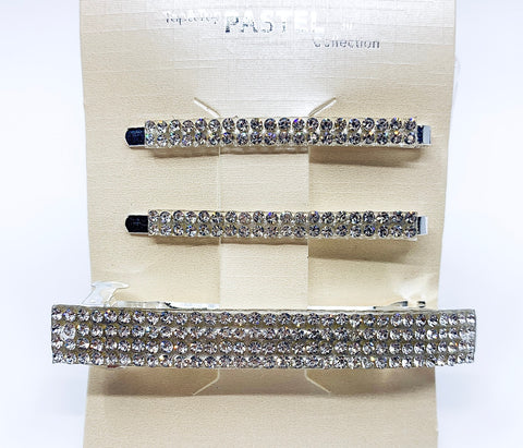 Set of 3 Crystal Hair Accessories