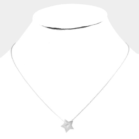 Lucky Star Silver Necklace