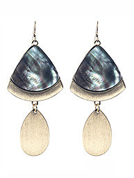 Shell Teardrop Statement Earrings