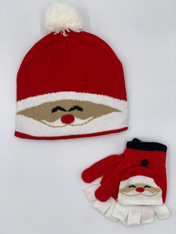Children's Santa Hat & Glove Set
