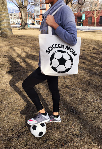 Soccer Mom Canvas Tote