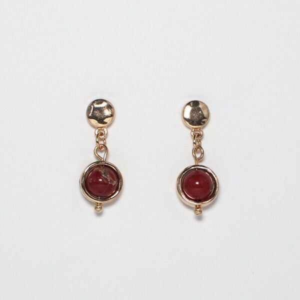 Semi Precious Stone Drop Earring