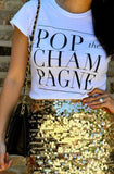 Pop the Champagne - womens cap sleeve