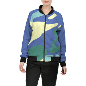 BlueRazzCamo Women's Bomber Jacket