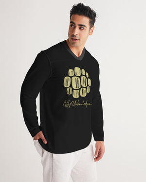 Solar (Gold) Men's Long Sleeve Sports Jersey