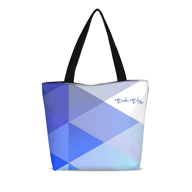 BLUE ICE Canvas Zip Tote