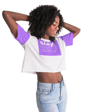 slaybydef Women's Lounge Cropped Tee