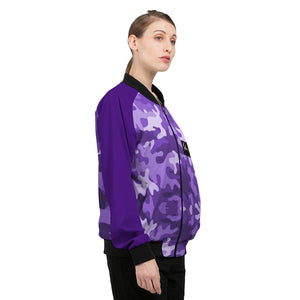 GrapeCamo Women's Bomber Jacket