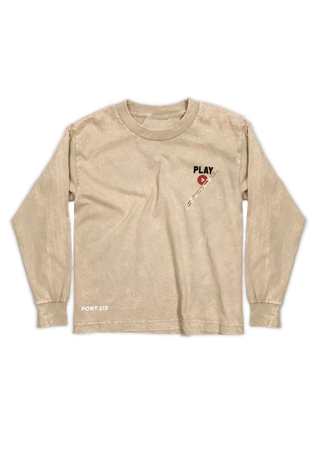 Vintage Beige Play Long Sleeve T-shirt - Port 213.com