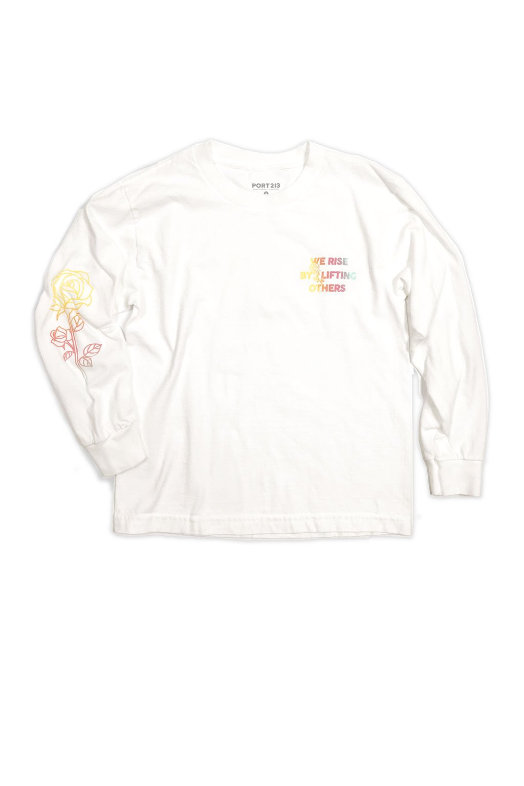 White Ombre Long Sleeve T-shirt - Port 213.com