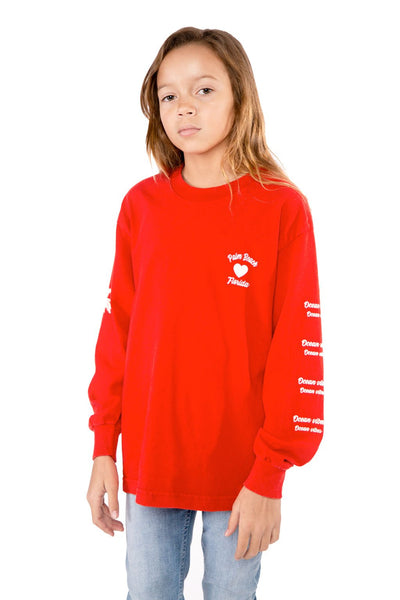 Red Palm Beach Long Sleeve T-shirt - Port 213.com