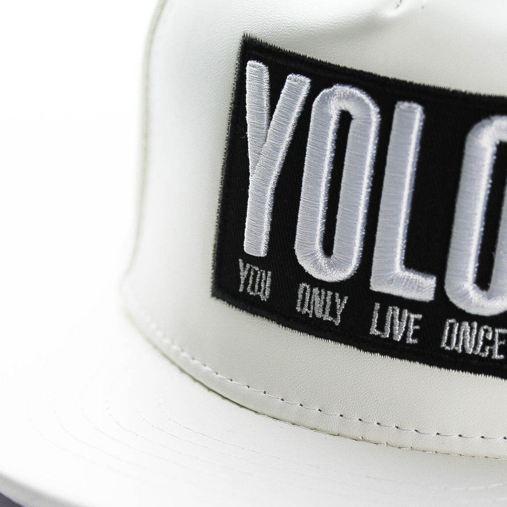 Unisex Yolo Faux Leather Snapback Hat (3-11yrs) - Port 213.com