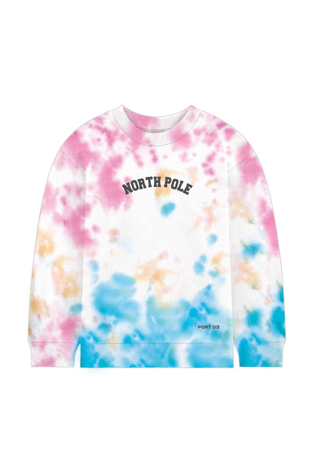 North Pole Tie-Dye Crew Neck Sweatshirt