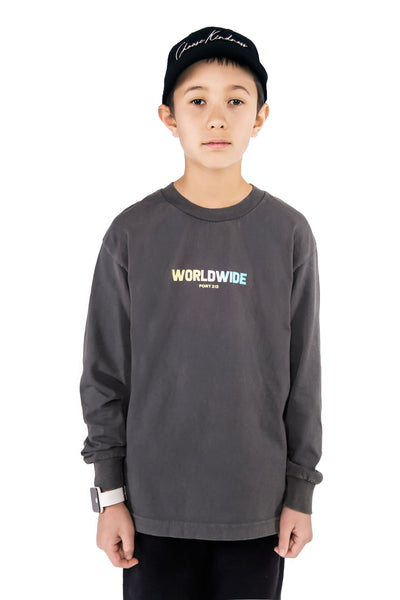 Vintage Black Worldwide Long Sleeve T-shirt - Port 213.com