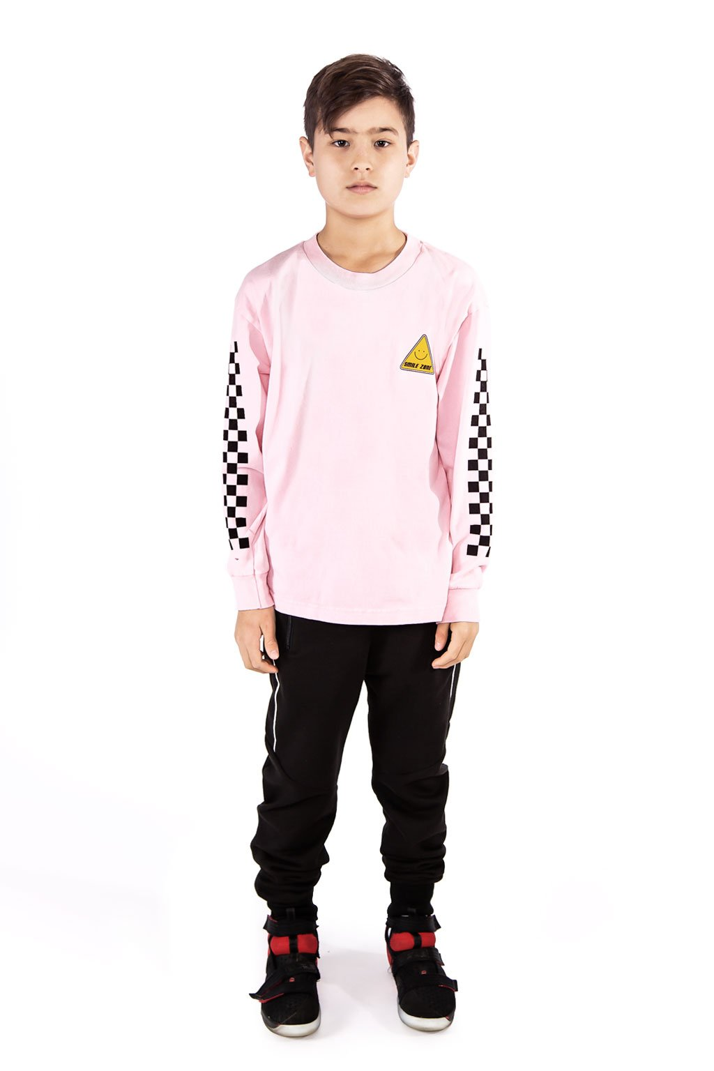Pink Smile Zone Long Sleeve T-shirt - Port 213.com