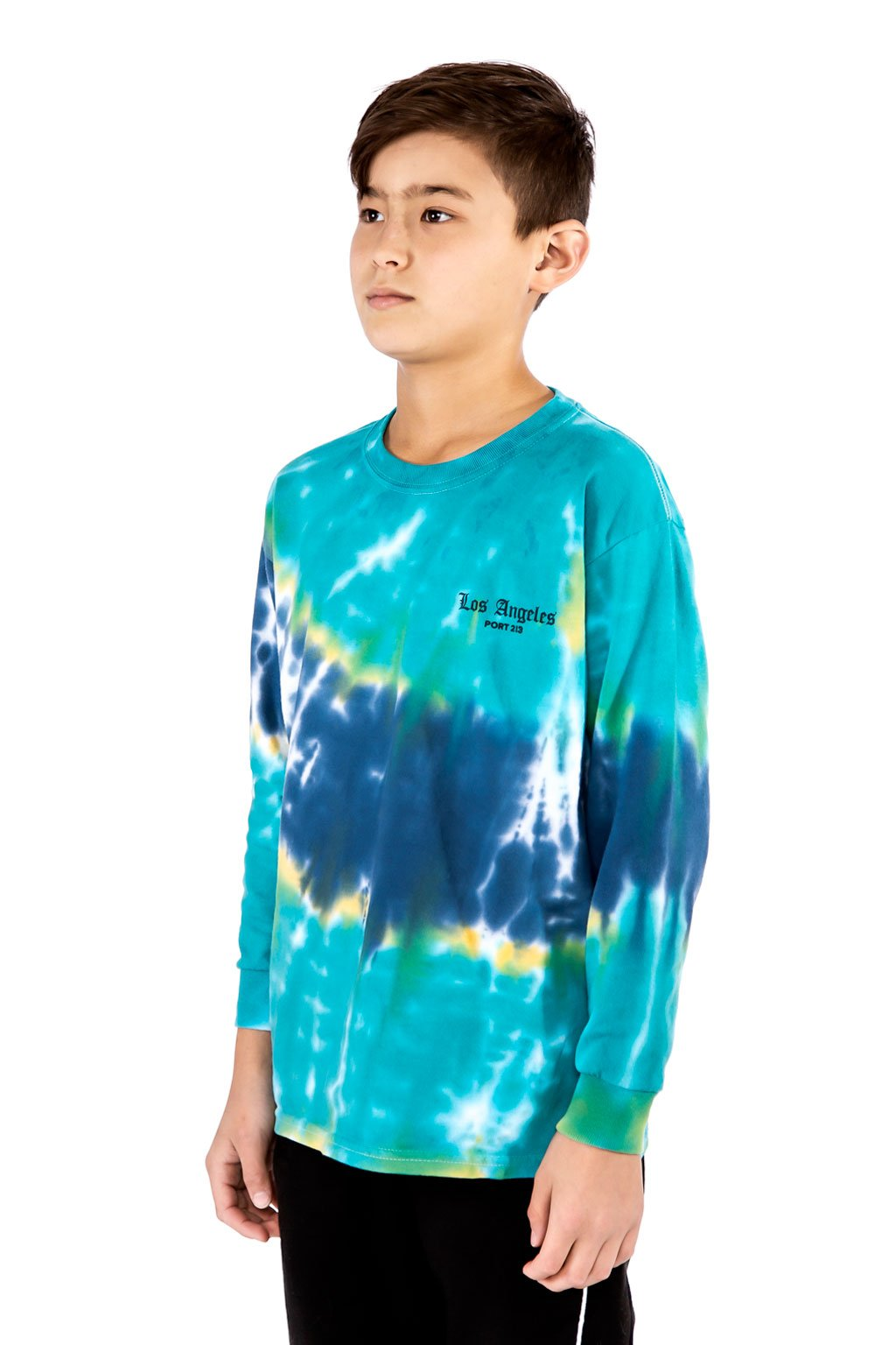 Blue Tie dye Los Angeles Long Sleeve T-shirt - Port 213.com