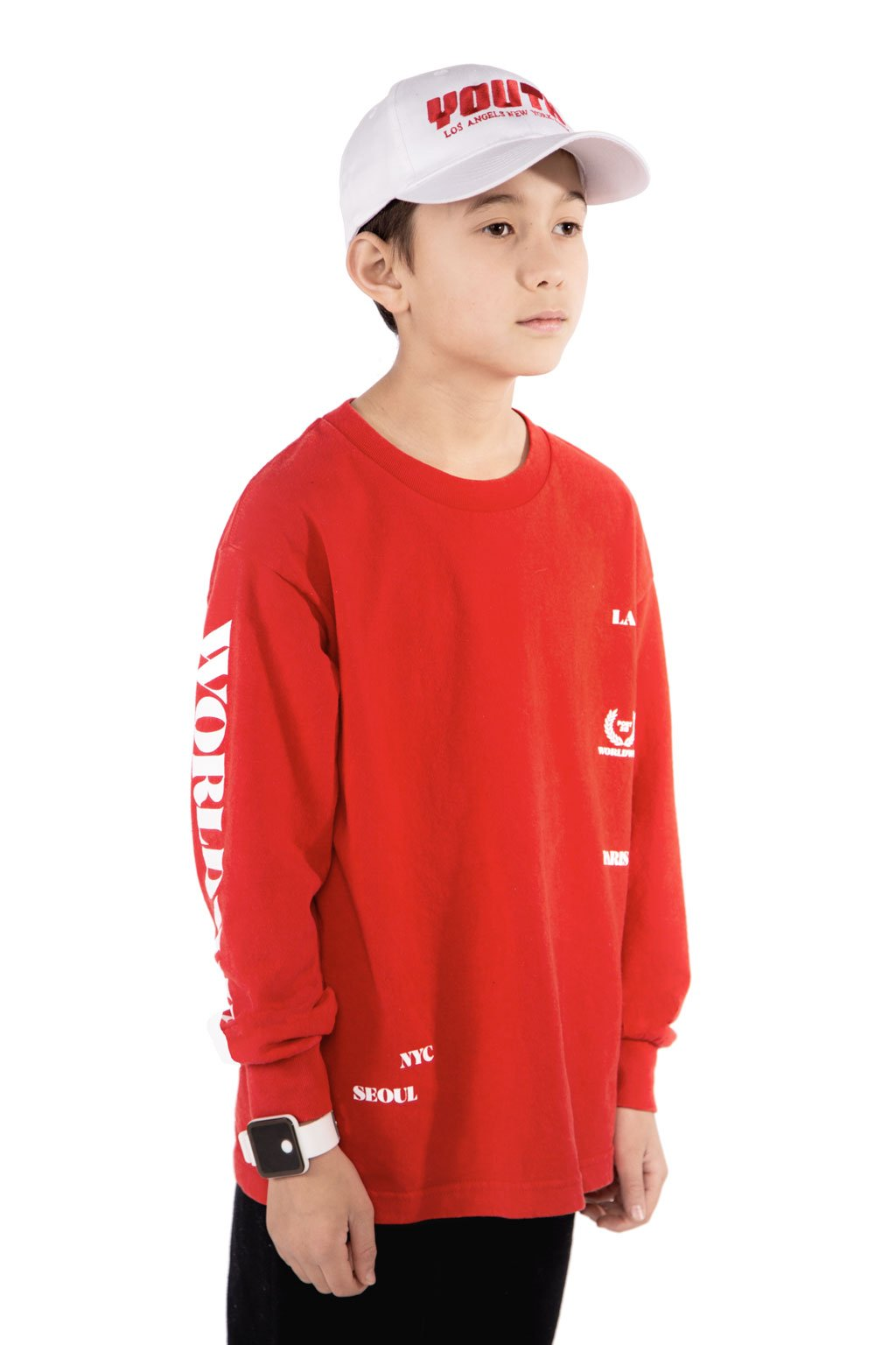 Red worldwide Long Sleeve T-shirt - Port 213.com