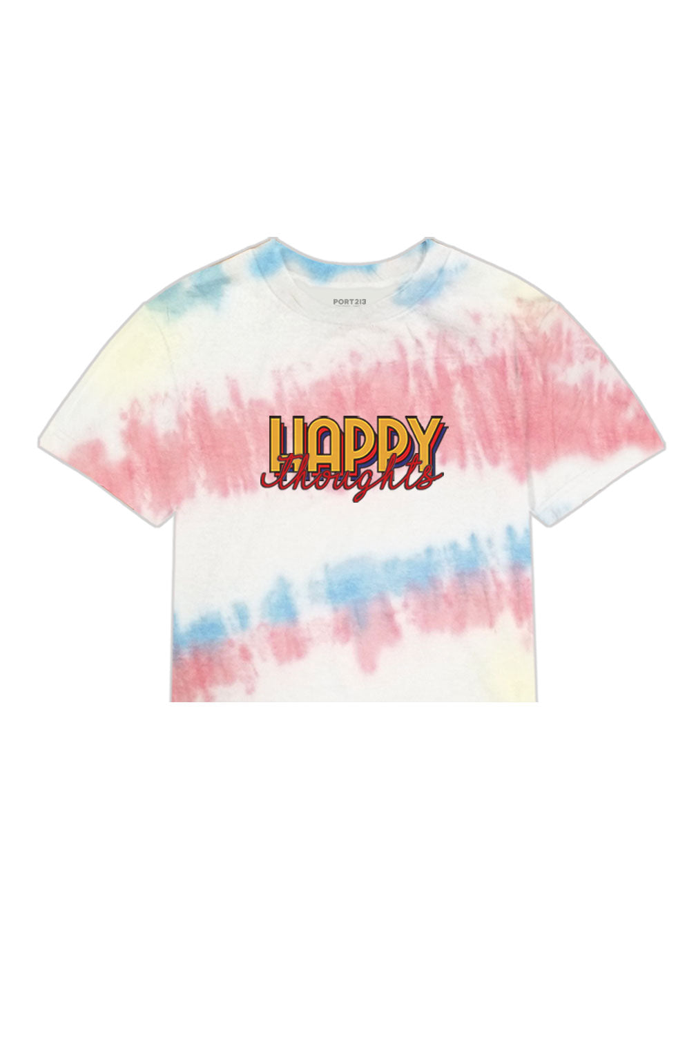 Happy Thoughts Tie Dye Crop T-shirt