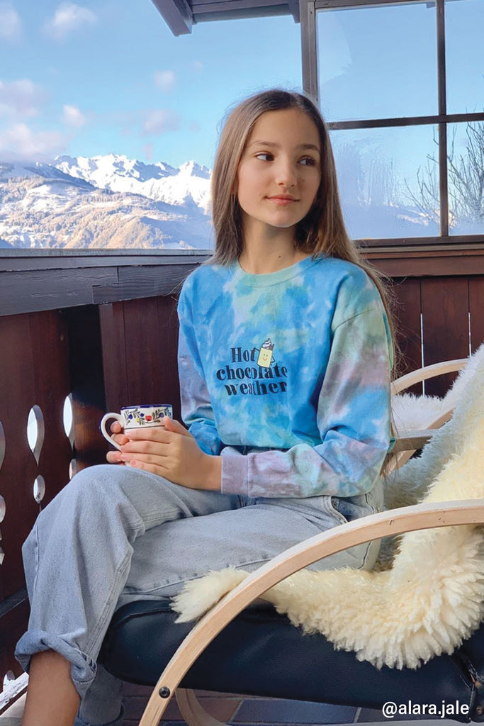 Hot Chocolate Tie Dye Long Sleeve T-shirt