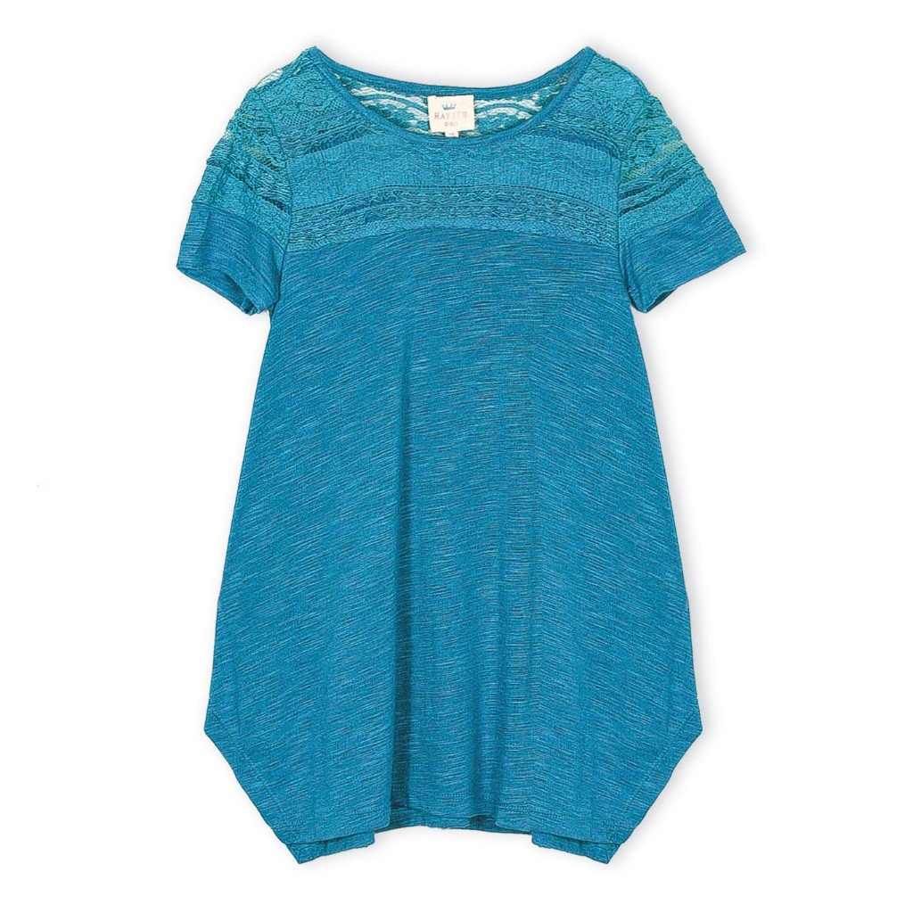 Girls Lace Jersey top (7-14yrs) - Port 213.com