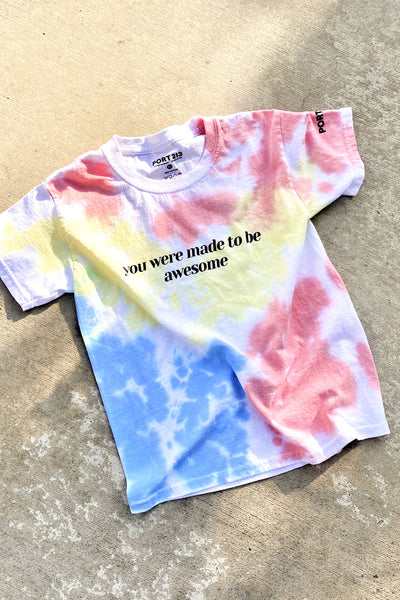 Tie Dye Made to be Awesome T-shirt