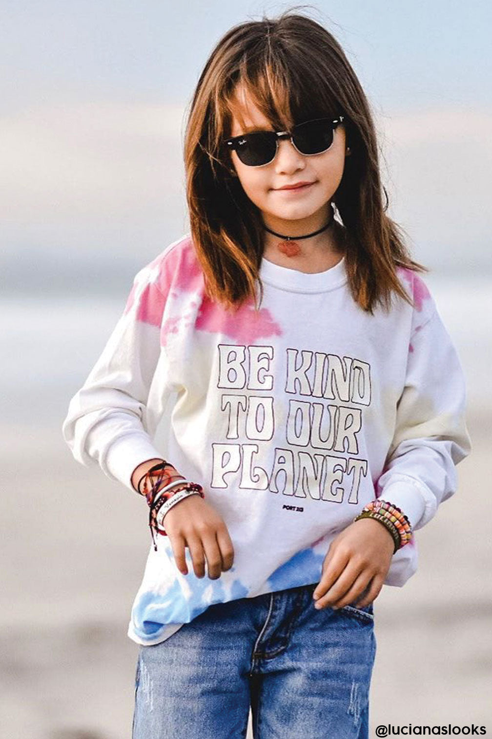 Planet Tie Dye Long Sleeve T-shirt