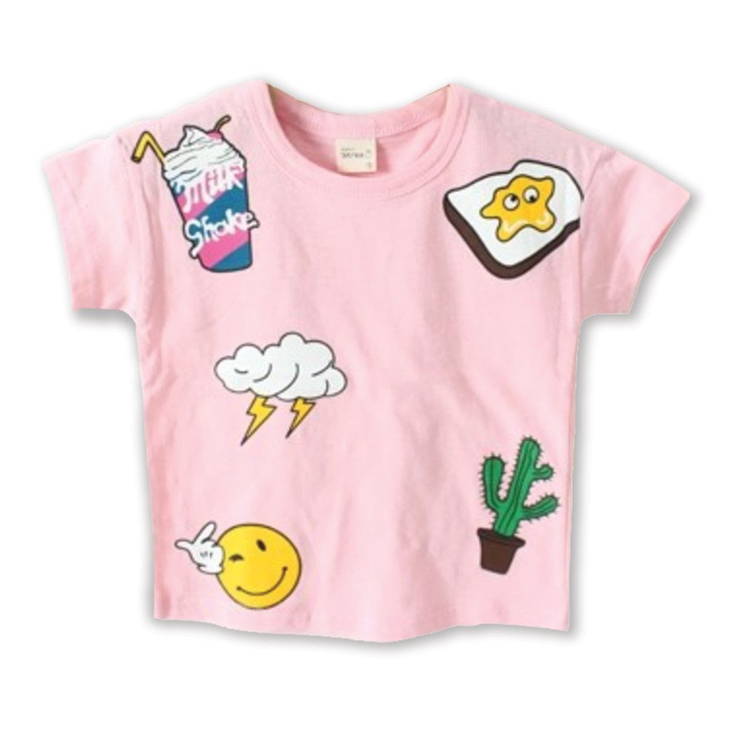Unisex Milkshake Cartoon Tee (4-8yrs) - Port 213.com